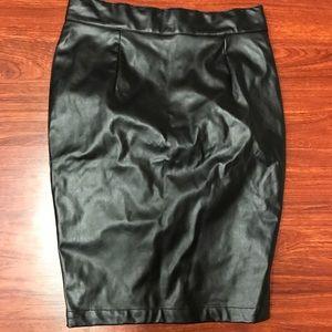 New! Naked Wardrobe Pleather Pencil Skirt